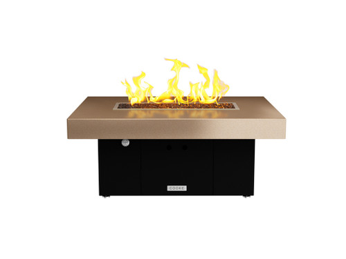 "COOKE Santa Barbara Rectangular Fire Pit Table - 40"" x 30"" - Lounge Height"