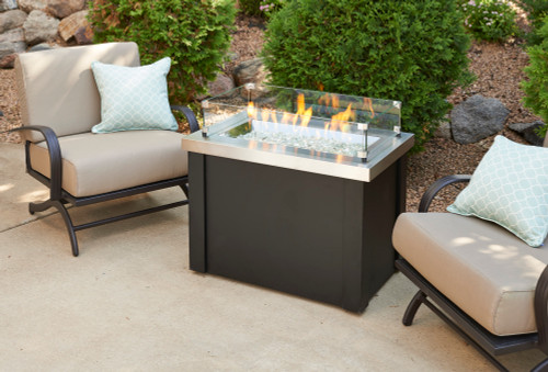 Outdoor Greatroom - Providence Fire Pit Table with Stainless Steel Top