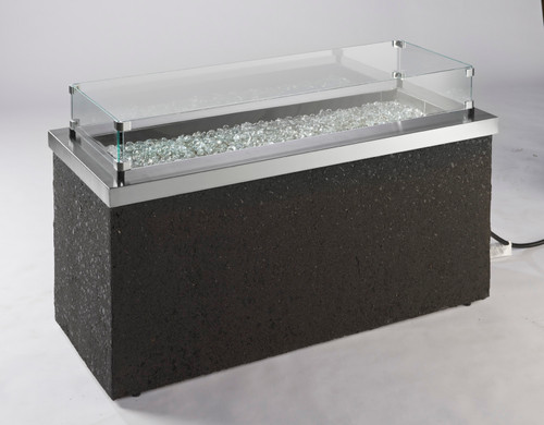 Key Largo Fire Pit shown with Optional Glass Wind Guards (not included)