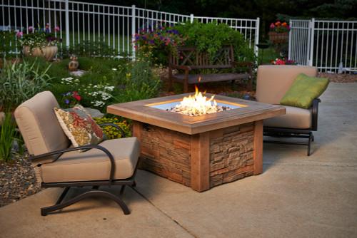 OGR Sierra Square Fire Pit Table