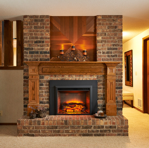 "Outdoor Greatroom - 29"" Electric Fireplace Insert With Surround"