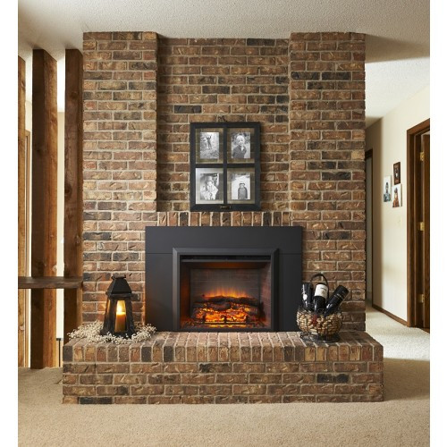 """Outdoor Greatroom - 29"""" Electric Fireplace Insert With Surround"""