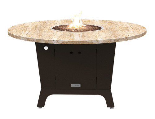 "COOKE Olympic Round Fire Pit Table  55"" Diameter - Dining Height"