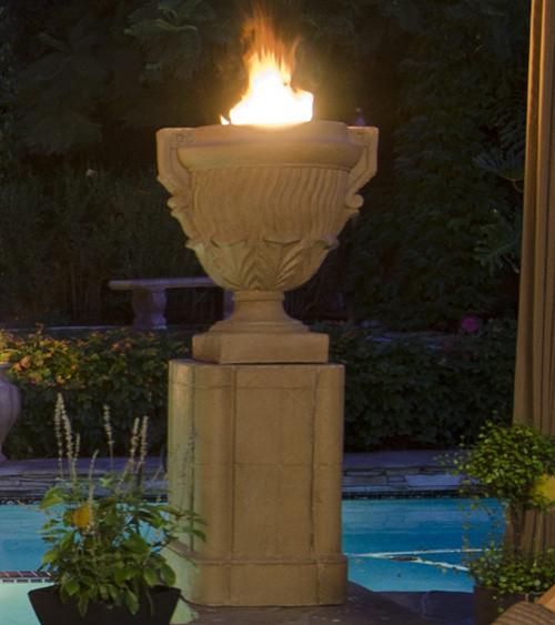 American Fyre Designs - Piage Fire Urn & Pedestal