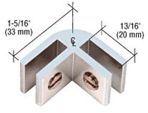 Fire pit glass wind screen clamp