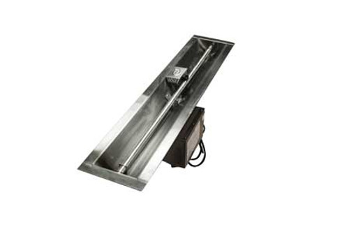 "HPC - 36"" Trough Fire Pit Insert - EI Series - ON/OFF"