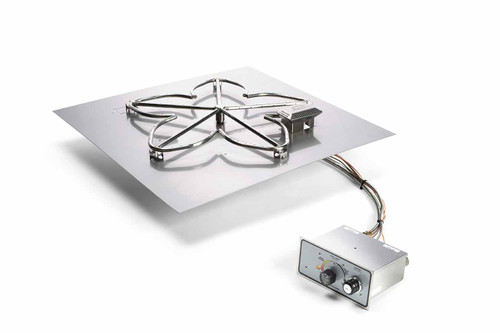 """Hearth Products Controls - 18"""" Square Flat Insert -  Push Button Ignition"""