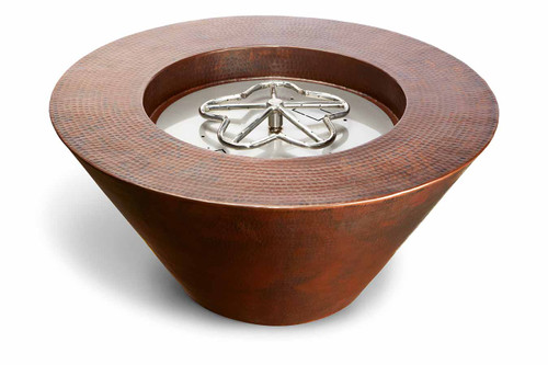 """Hearth Products Controls - 32"""" Mesa Copper Round Fire Bowl- Electronic Ignition"""