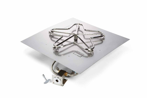 "Hearth Products Controls - 18"" CSA Square Flat Pan Kit -  Match Lit"