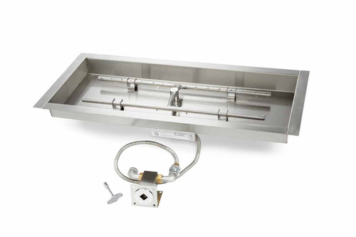 "Hearth Products Controls - 24"" CSA Rectangle Bowl H-Burner Kit  - Match Lit"
