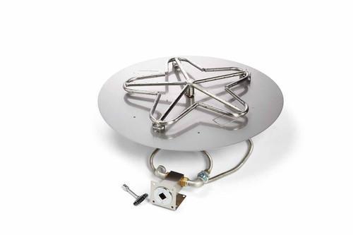 "Hearth Products Controls - 24"" CSA Round Flat Pan Penta Burner Kit - Match Lit"