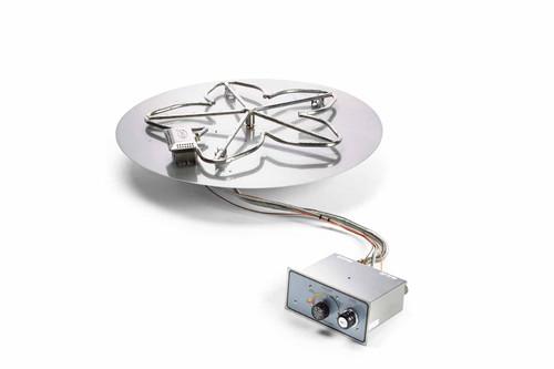 "HPC 24"" Round Flat Pan Insert with Penta Burner - Push Button Ignition"
