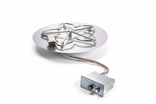"""Hearth Products Controls - 30"""" Round Flat Pan Insert With Penta Burner - Push Button Ignition"""