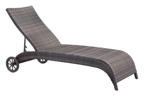 Lido Chaise Lounge Brown