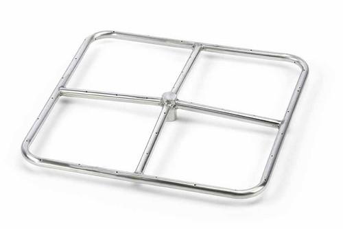 """HPC - Square Stainless Steel Burner - 12"""""""