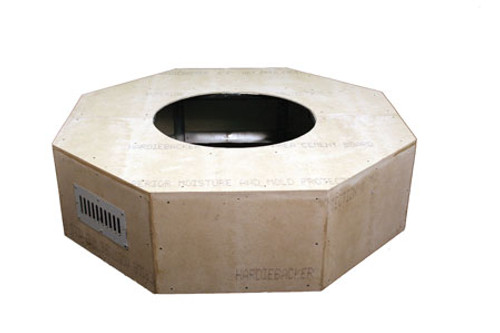 "Hearth Products Controls - 45"" Octagon Unfinished Enclosure With 25"" Fire Pit Kit - Match Lit"