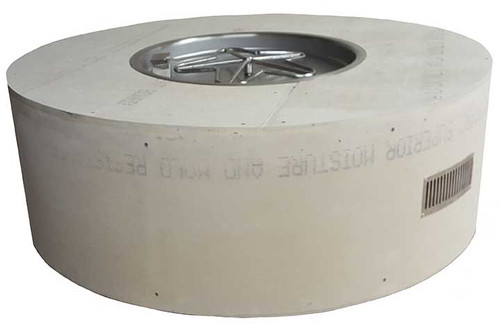 """HPC 45"""" Round Unfinished Enclosure With 25"""" Fire Pit Kit - Match Lit"""