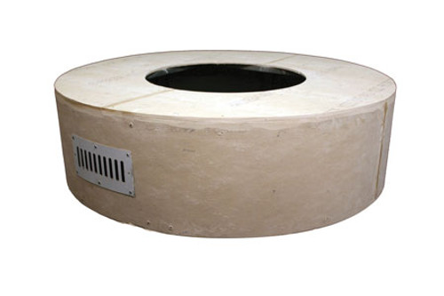 """Hearth Products Controls - 45"""" Round Unfinished Enclosure With 25"""" Fire Pit Kit - Match Lit"""