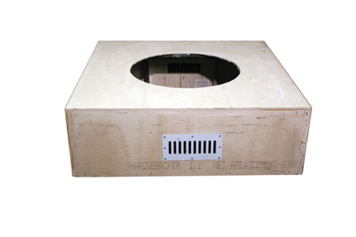 """HPC - 45"""" Square Unfinished Enclosure With 25"""" Fire Pit Kit - Match Lit"""