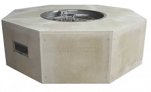 "HPC - 54"" Octagon Unfinished Enclosure With 25"" Fire Pit Kit - Match Lit"