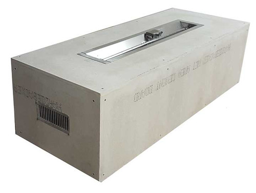 """Hearth Products Controls - 60"""" Rectangle Unfinished Enclosure With 48"""" Linear Insert - Match Lit"""