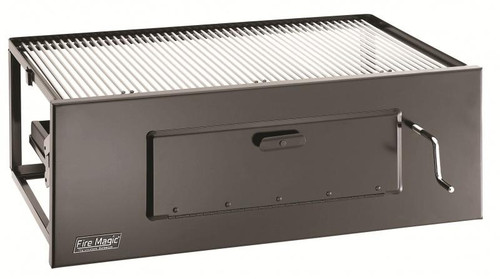"""Fire Magic - 23"""" Lift-A-Fire Built-In Charcoal Grill"""