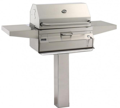 Legacy Charcoal Pedestal Grill - In Ground Post