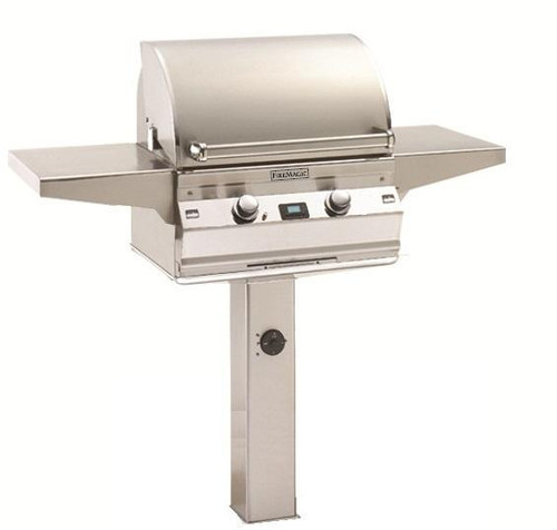 Aurora 430 Pedestal Grill with In Ground Post