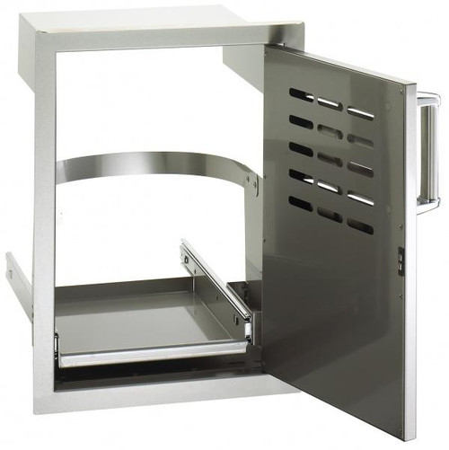 Premium Single Access Door with Tank Tray & Louvers - open