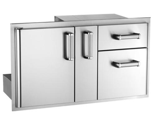 Premium Access Door w/Platter Storage & Double Drawer