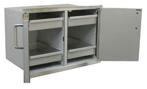 Premium Double Doors with Two Dual Drawers - Open