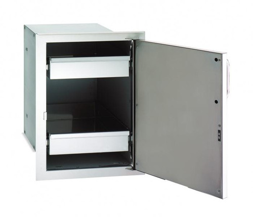 Premium Single Door with Dual Drawers  - open
