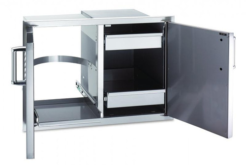 Fire Magic - Select Double Access Door with Dual Drawer & Trash Tray