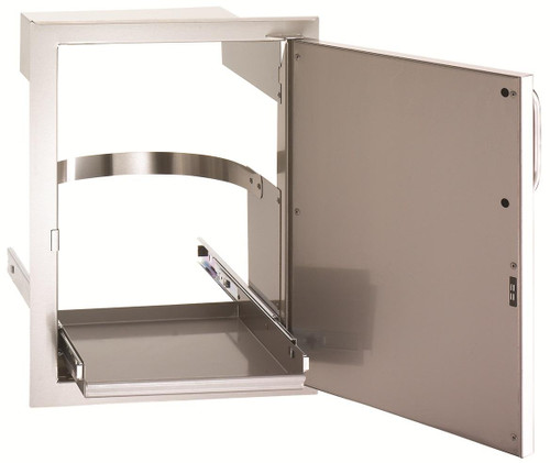 Single Access Door with Tank Tray & Louvers - open