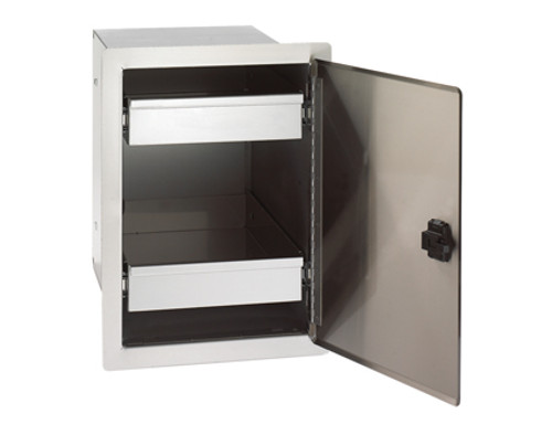 Legacy Single Door with Dual Drawers - Open