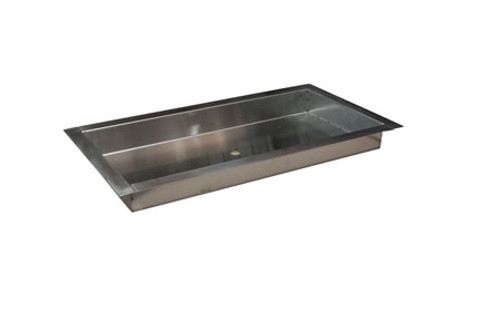 HPC Stainless Steel Bowl Style H-Burner Pan - Multiple Sizes