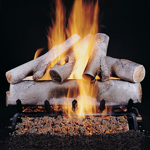 Rasmussen Birch Vented Gas Log Set - Double Face