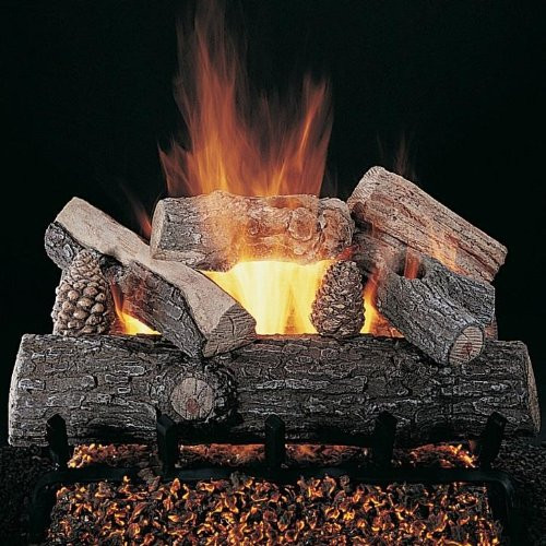 Rasmussen Lone Star Vented Gas Log Set - Double Face