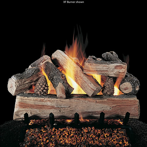 Rasmussen CrossFire Vented Gas Log Set - Double Face