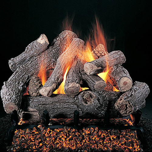Rasmussen Bonfire Vented Gas Log Set - Double Face