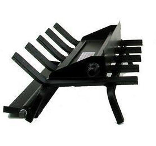 """Rasmussen Double Face """"LC"""" Multi-Burner/Grate Hearth Kit - Black Painted"""