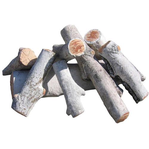 White birch fire pit logs