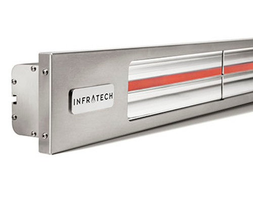 """Infratech 29.50"""" SLIM LINE 1,600 WATT 240 VOLT 6.7 AMPS Silver Heater"""