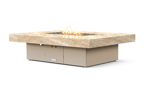 "COOKE Santa Barbara Rectangular Fire Pit Table - 62"" x 48"" - Lounge Height"