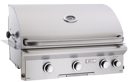 """AOG - 30"""" Built-In Gas Grill (Optional Rotisserie System)"""