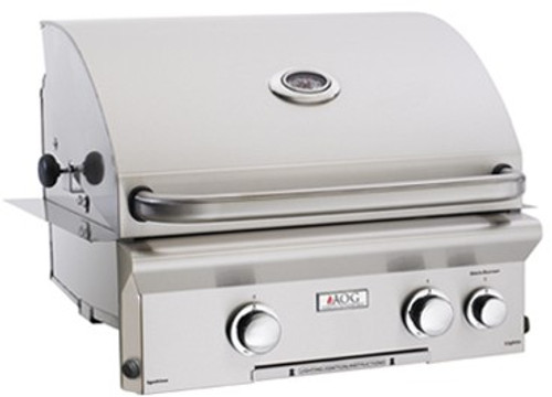 """AOG - 24"""" Built-In Gas Grill (Optional Rotisserie System)"""
