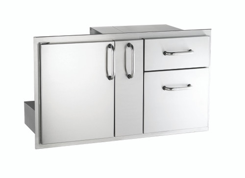 "AOG 18"" x 36"" Door with Double Drawer & Platter Storage"
