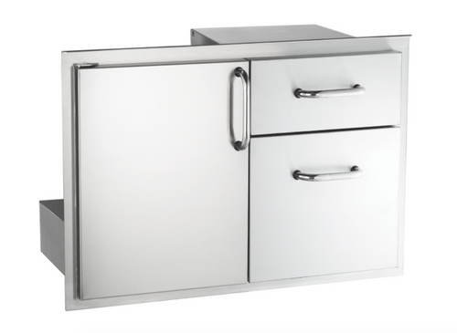 "AOG 18"" x 30"" Storage Door with Double Drawer"