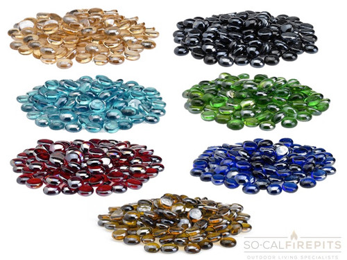Luster Glass Fire Beads - Multiple Color Options