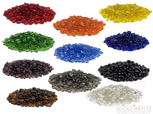 Eco Glass Fire Beads - Multiple Color Options